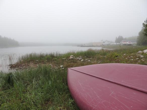 Fog over canoe