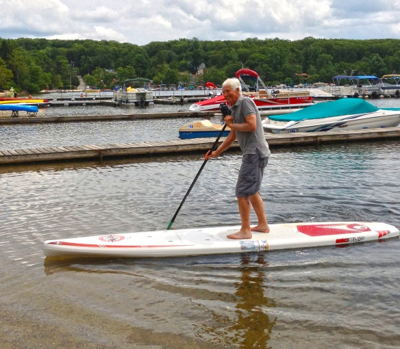 So, for excitement - get on a paddle board, no life vest, paddle way out, fall in, wait for life guard help, and be as dumb as this old man! If you do not know what this all about - ask Heather