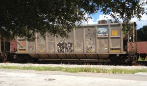 Some unknown artist in some unknown freight yard created for the world to see his work in a mobil gallery