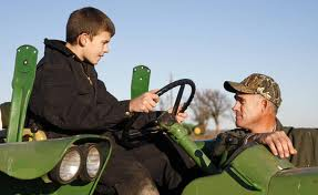 We learned very early how to drive tractor