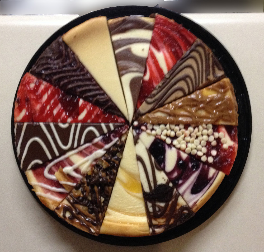I will not identify the source of this cheese cake -- but would it be the same if it was only cheese color - ask any artist what cheese yellow is. OK?