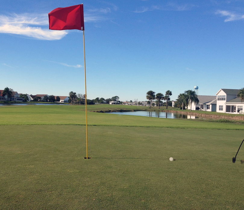 Or dream of the perfect putt in Florida - just follow the shadow.