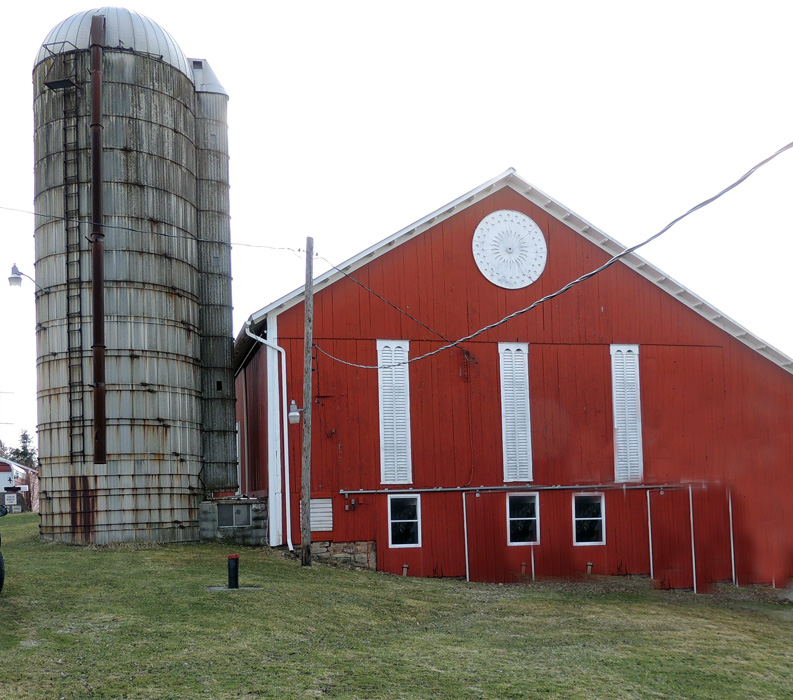 This was the milk barn where my Grandfather lived - only a couple hundred yards down the road from the Old Barn where we lived. My Dad and my brother farmed here together and then my brother with his family carried on the tradition!