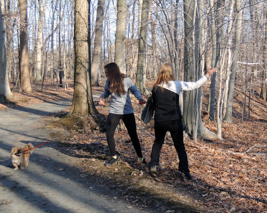 on a walk with my Granddaughter and daughter - I love the focus each person shows at the moment the shutter was pushed.