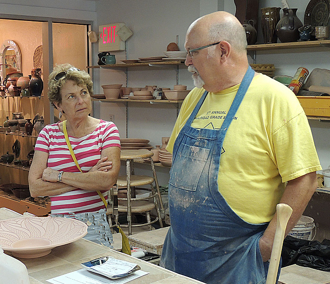 Grandma is learning from a Master Potter