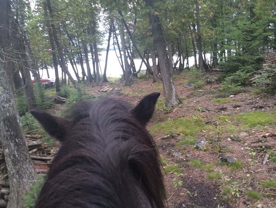 But we rode through the woods passed our whitney Bay to lake Huron  - Here we are!